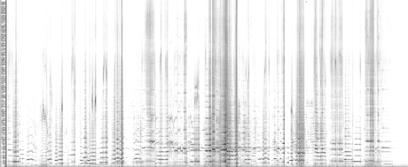 An unprocessed spectrogram of the complete performance - flute.